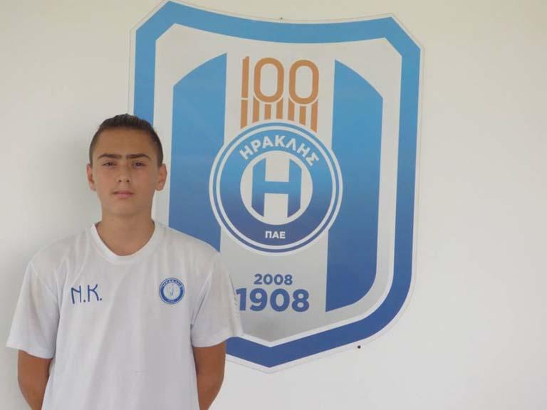 Απο τα τμήματα Υποδομής του Παναθηναϊκού Κομοτηνής στον Ηρακλή ο 14χρονος Φάνης Αποστολίδης!