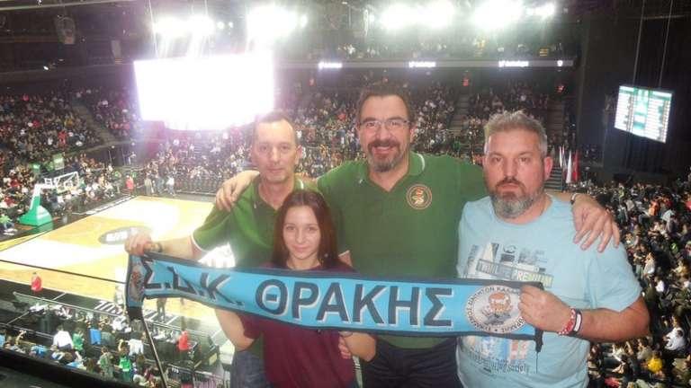 Δυναμικό παρών του Σ.Δ.Κ. Θράκης στα εκτός έδρας παιχνίδια Ολυμπιακού και Παναθηναϊκού στην Κωνσταντινούπολη για την Euroleague!