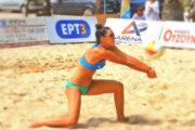 Παρουσία της πρωταθλήτριας Ι. Παρισάκη το κάμπ εκμάθησης beach  volley της Ολυμπιάδας Κομοτηνής!
