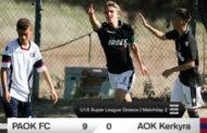 Ηγετική εμφάνιση με δύο γκολ και μια ασίστ για τον Νάση Στοίνοβιτς με την Κ15 του ΠΑΟΚ!