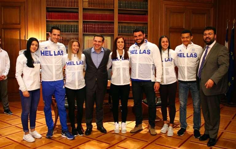 Συνάντησαν τον Πρωθυπουργό Παπαχρήστου και η Εθνική ομάδα κλειστού στίβου(+photos)