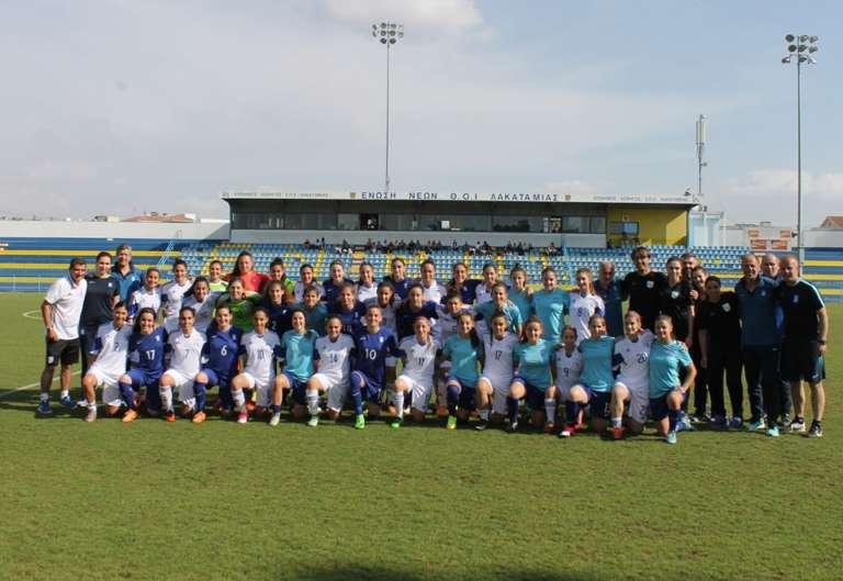 Φιλική νίκη για την Εθνική Νεανίδων επί της Κύπρου με συμμετοχή και της Μετοικίδου!