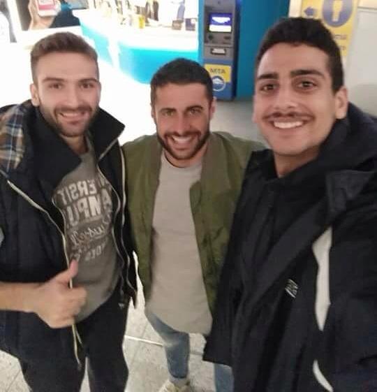 Με τον Βασάλο του Survivor Καβαρατζής & Χαραλαμπίδης του Εθνικού!