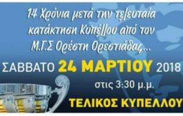Η αφίσα του Ορέστη Ορεστιάδας για τον τελικό του Κυπέλλου με Φέρες