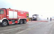 Έβρος: Κάηκε ολοσχερώς λεωφορείο του ΚΤΕΛ!