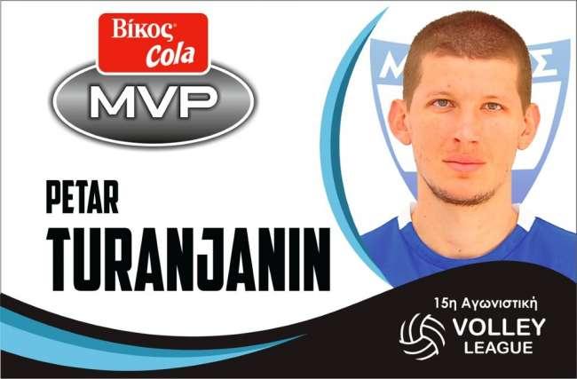 Volley League: Ο Τουράνιανιν του Εθνικού MVP της 15ης αγωνιστικής!