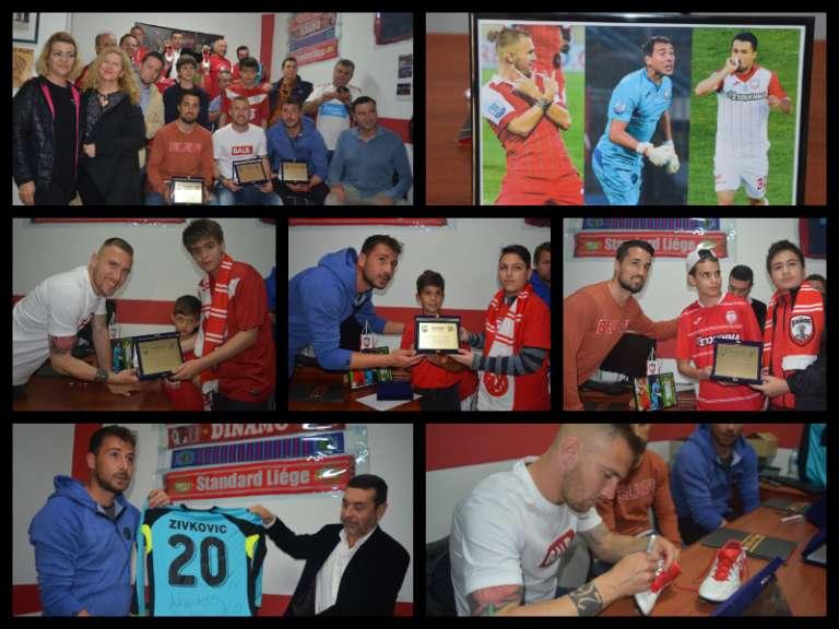 Photos: Μοναδικές στιγμές αποθέωσης για Ζίβκοβιτς, Γέντρισεκ και Κασάδο στην βράβευση τους απο τους Xanthifans!