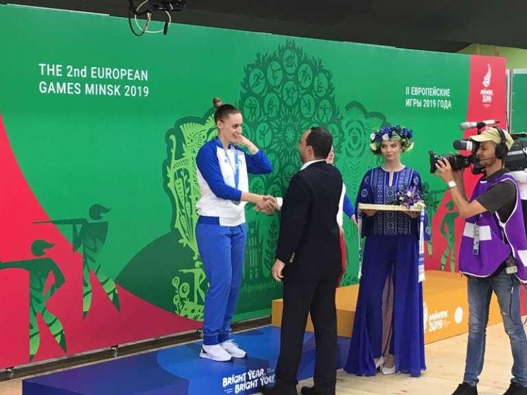 Αργυρό μετάλλιο για την Κορακάκη στους Ευρωπαϊκούς Αγώνες του Μινσκ!