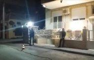 Πανό αλληλεγγύης στους Κούρδους, έξω από το σπίτι του Τούρκου Πρόξενου στην Κομοτηνή!