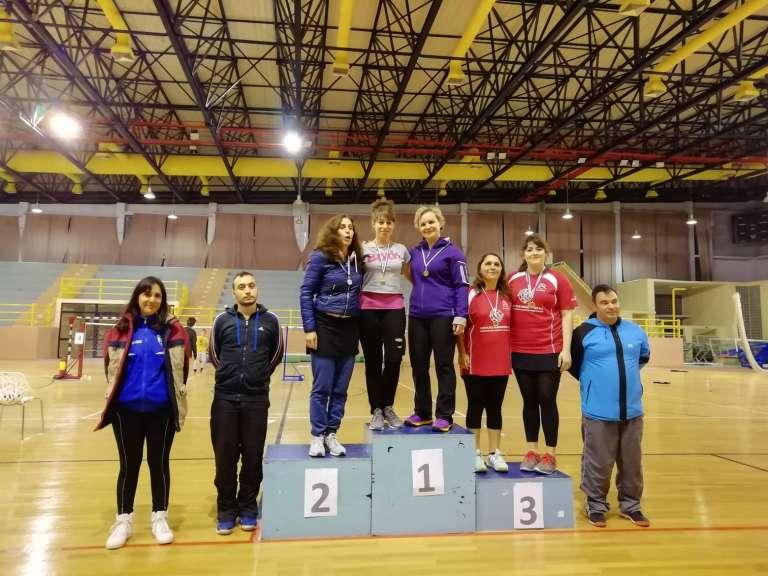 Στο βάθρο των μεταλλίων αθλητές του Εθνικού στα Περιφερειακά Badminton