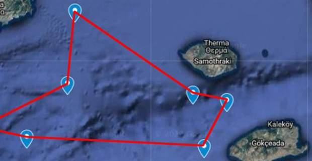 Δεσμεύει την περιοχή μεταξύ Θάσου-Σαμοθράκης-Λήμνου η Τουρκία με NAVTEX !