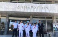 Η αναμνηστική φωτογραφία του Αντιδήμαρχου Κομοτηνής, Κίμωνα Λεχούδη, με τους λαμπαδηδρόμους της Ολυμπιακής Φλόγας!