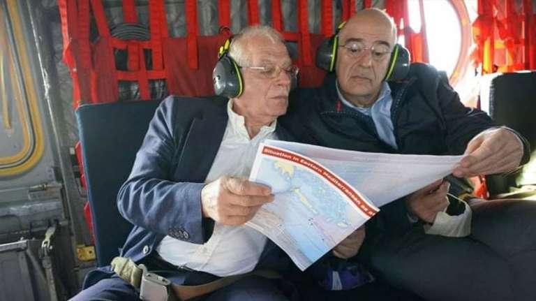 Το μήνυμα Μπορέλ απο τον Έβρο σε Τουρκία και οι χάρτες της Αν. Μεσογείου μέσα στο Σινούκ