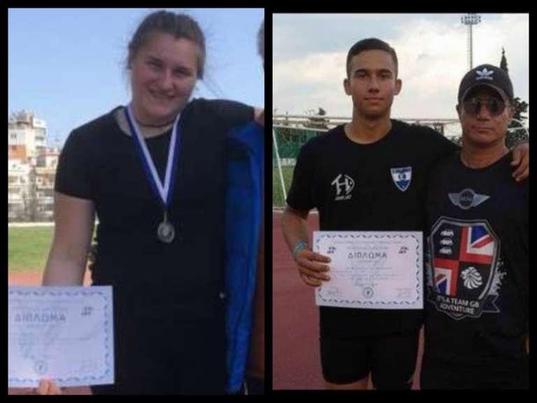 Με εξαιρετικές επιδόσεις και μετάλλια επιστρέφουν απο τα Σπανίδεια Παπαϊωάννου και Τσακιρούδης!