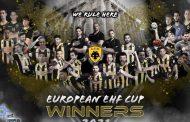Κυπελλούχος Ευρώπης με την ΑΕΚ ο Εβρίτης Βαγγέλης Αραμπατζής!